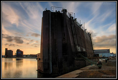 Caisson (4737 Carlin) Tags: world new sunset england tower abandoned water architecture liverpool docks canon river 350d condemned twilight dock brighton factory decay navy victorian rusty quay machinery birkenhead nightime second disused naval derelict hdr mersey wallasey ue wirral merseyside urbex seacombe engernearing diamondclassphotographer 4737carlin