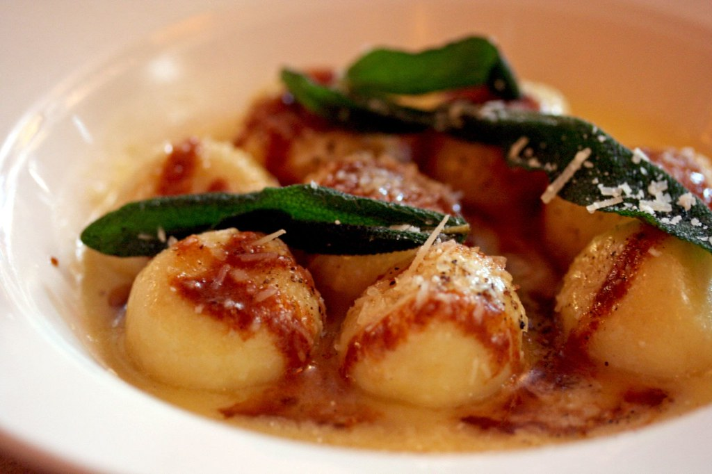 Sheep's Ricotta Gnudi with Brown Butter and Sage