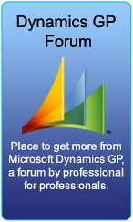 Dynamics GP Forum