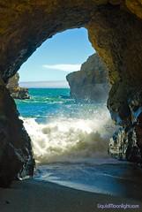 Neptune's Looking Glass (Darvin Atkeson) Tags: ocean california bridge sea portrait usa santacruz america coast us natural pacific wave cave       liquidmoonlightcom