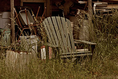 Waiting Patiently (BKHagar *Kim*) Tags: al weeds chair junk decay alabama athensal bkhagar