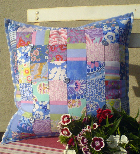 Sweet blue cushion
