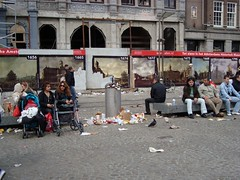 sitting in dam square