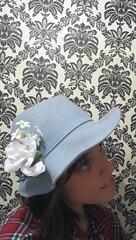 My favourite blue hat (Eureka Paprika) Tags: hat fedora etsy