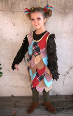 Little Owl (Skunkboy Creatures.) Tags: bird halloween girl diy handmade dressup owl
