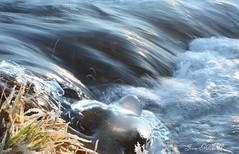 (Jaana-Marja) Tags: sunlight snow ice water river frozen iceland reykjavik straws elliardalur flickrdiamond vanagram