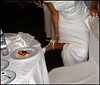 white shoes white food wedding photo