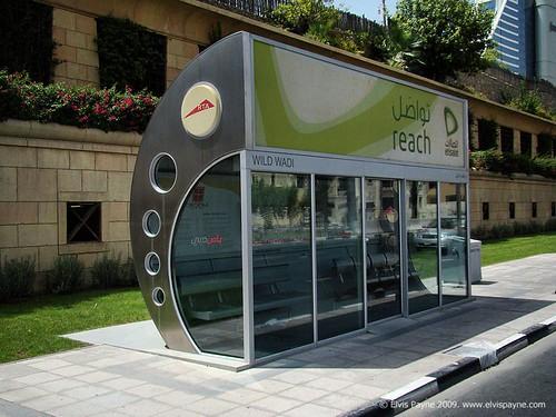 Air Conditioned bus stop in Dubai