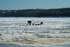 Father and daughter ice fishing (lalande798) Tags: ottawariver icefishing