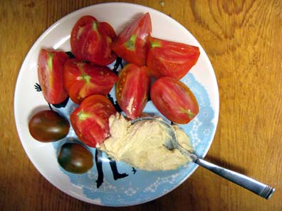 Tomatoes and Hummus