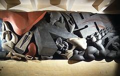 Noguchi -- History Mexico (detail), 1936 (Remiss63) Tags: old sculpture color detail building brick art history architecture 1936 mexico death design mexicocity mural war symbol market killing interior cement archive architectural relief communism photograph figure predigital colored aggression noguchi archival fascism sculptor symbolic isamunoguchi sculpt nazism figural