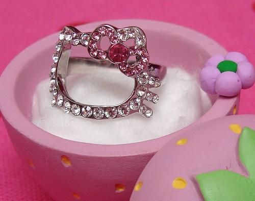 Anillo diamante fantasía Hello Kitty