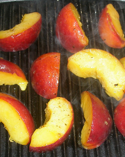 Chargrilled peaches