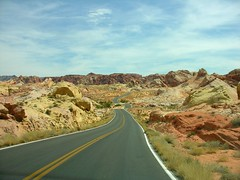 Ribbon Road in Valley of Fire State Park, Nevada (Old Shoe Woman) Tags: vacation usa mountains valleyoffire highway nevada redrock valleyoffirestatepark shoot