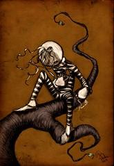 arrancando (ilustracionamentador) Tags: brazil black color art colors brasil pencil photoshop arte drawing victor draw ilustrao ilustration desenho balano chalks criao olhando procurando castilho subindo arrancando victorjam