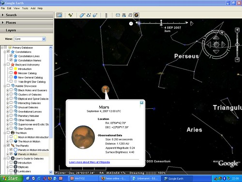 Google Earth Sky