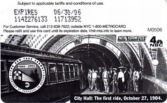 MetroCard Back The First Ride