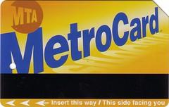 Anverso de la tarjeta MetroCard