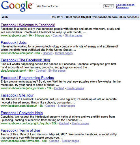 Facebook Pages in Google