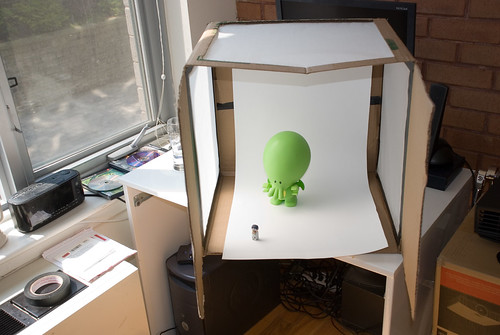 diy photo lightbox finished