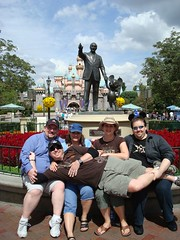 The Supergroup poses in front of Walt and Mickey. (09/20/07)