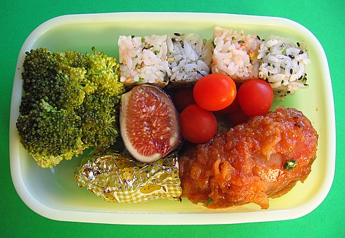 Rice cube bento lunches