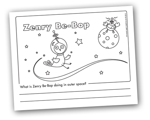 Zenry coloring sheet