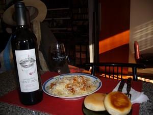 Imperio de Sentidos Cabernet Sauvignon… y spaghetti