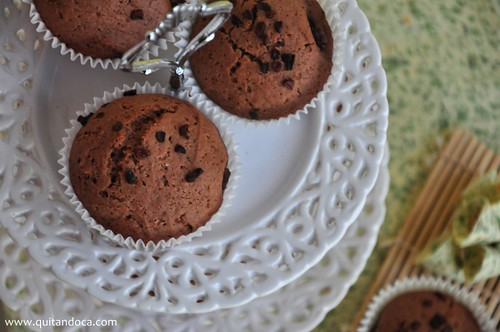 Muffins de Chocolate com recheio de Nutella