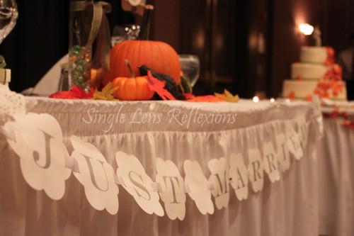 Head Table sign