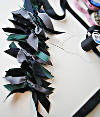 RIbbon Necklace DIY -5 (...love Maegan) Tags: diy diyfashion fashiondiys doityourself ribbonnecklace ribbonnecklacediy statementnecklace howtomakearibbonstatementnecklace howto tutorials ribbons fashion accessories