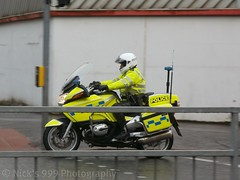 PSNI Motorbike on a shout (Nick 999) Tags: street blue station lights police belfast led motorbike leds emergency sirens musgrave psni policeservicenorthern