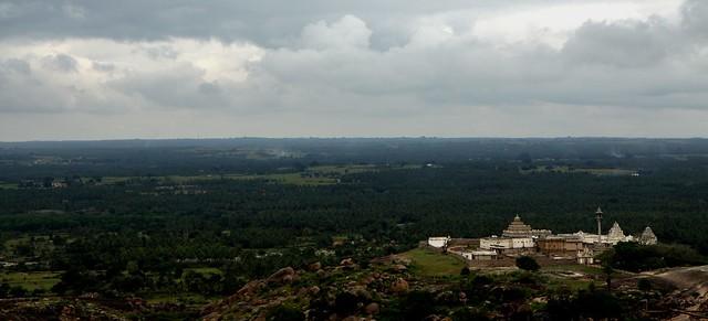 View of Chandranagari Hills from Sri Gomateshvara