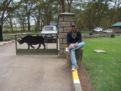 at the entrance of Lake Nakuru