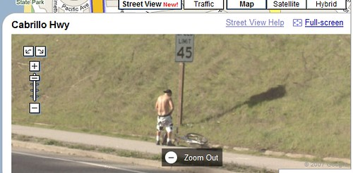 Google street view guy peeing