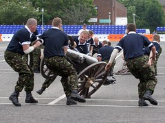 Pic 00176 (Colonel Killgore) Tags: race army team gun action navy hard fast competition strong oops airforce macho tough teamwork competitive royalnavy fieldgun wwwgunteamnet