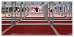 Hurdles start. (by Robert Voors)