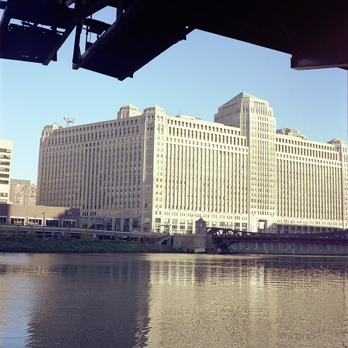 Merchandise Mart as 50s illustration