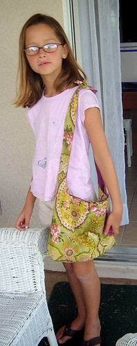 M and her bag