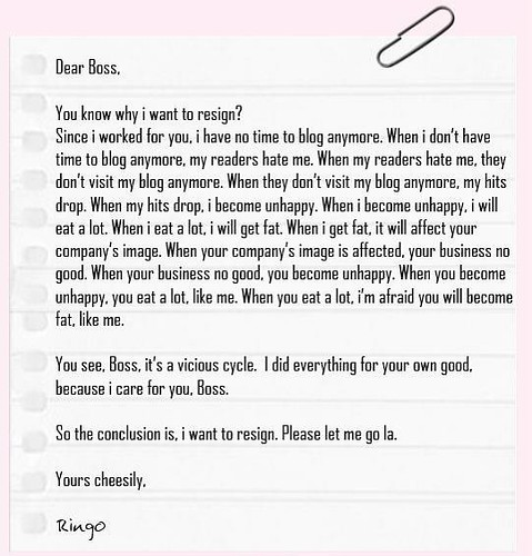 Funny Clever Resignation Letters For Restaurant Jobs