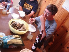 Enjoying clams