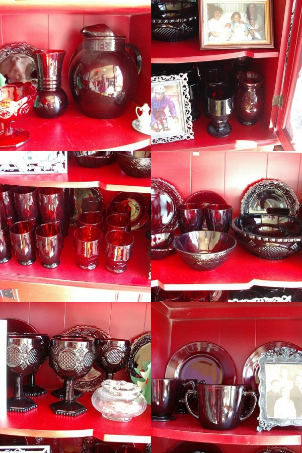 Ruby glass collection