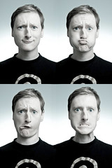 Self portraits with wacky faces - by Swansea Photographer