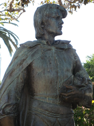 Felipe de Neve Stature in Plaza Park