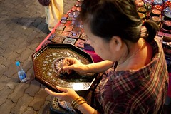 A Chiang Mai, la dame et ses bols