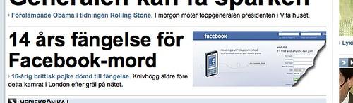 Facebook-mord (Jag blir så trött...)