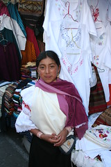 Girl in Otavalo market