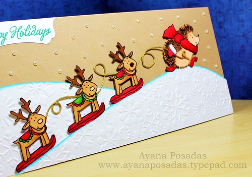 Penny Black Reindeer Card (5)