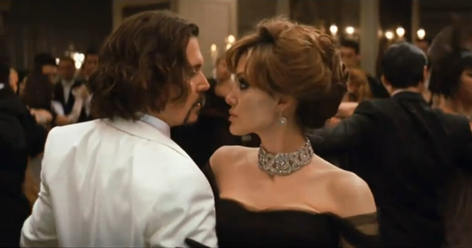 Johnny Depp and Angelina Jolie in The Tourist 2010 remake of Anthony Zimmer