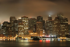 The City that Gold Built (A Sutanto) Tags: sf sanfrancisco california ca city longexposure urban usa water fog skyline night america buildings lights bay bravo downtown ferrybuilding soe offices sfbay supershot abigfave anawesomeshot aplusphoto superhearts